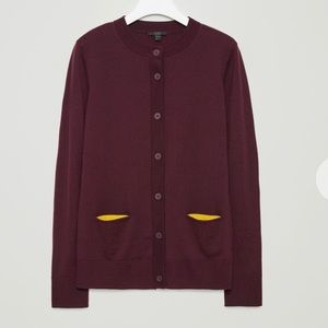COS cardigan with contrast pockets